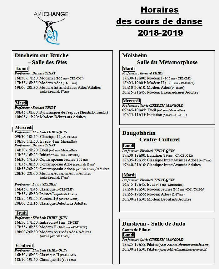 horaires 2018-2019
